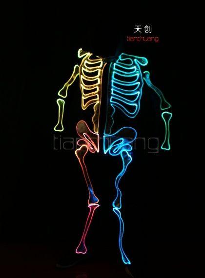 LED light up Fiber optic Ghost Suits