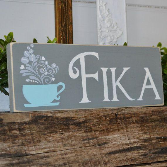Fika  Swedish Coffee Sign by CaptureMyArtShop on Etsy, $15.00