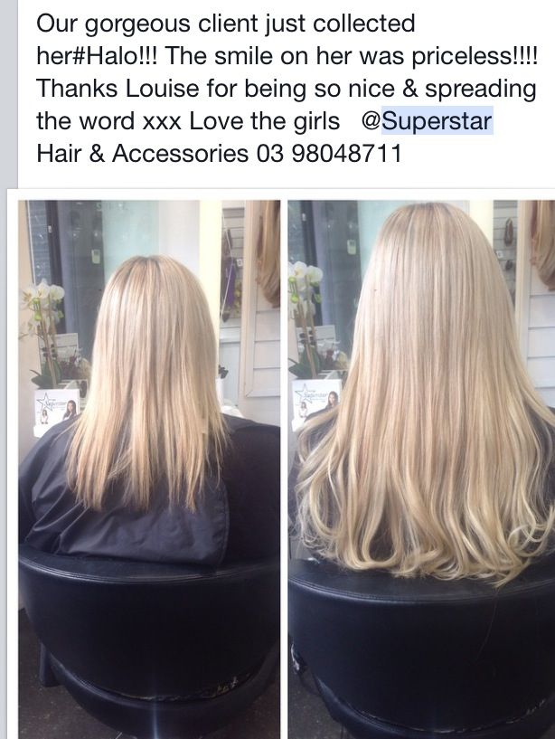 #Instant #Damage #Free #Halo #Love #Hair #Extensions Making #Hair dreams come true with our famous #Halo created & designed by Josie Portelli in 1999 @Superstar #Hair & #Accessories