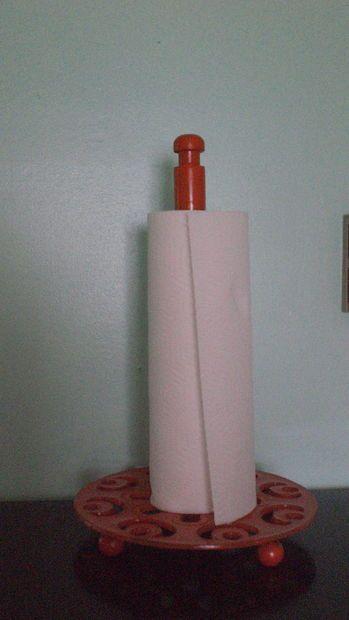 Modern Paper Towel Holder tutorial