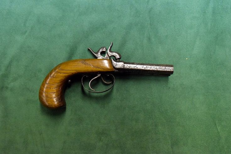 Pistolet kapiszonowy dwulufowy, producent nieznany, ok. 1850 r.
