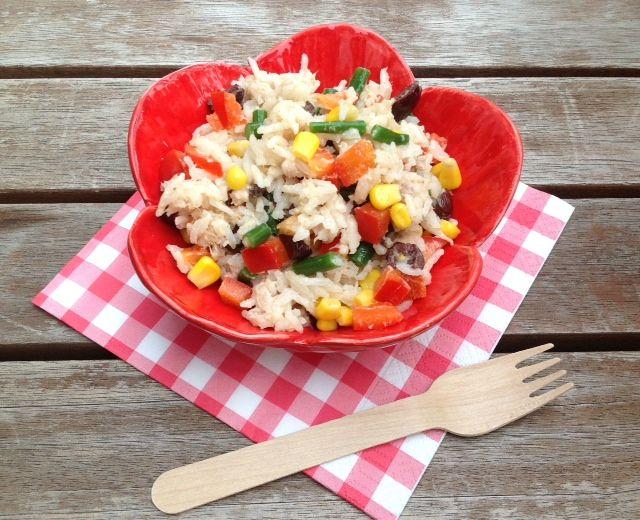 Koken op de camping: recept rijstsalade