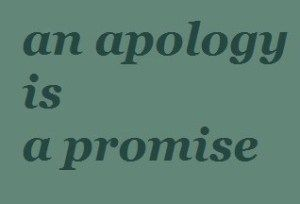 Something to remember!  3 rules for an apology.