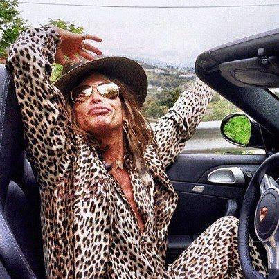 Steven Tyler. I like a man that rock the cheetah.