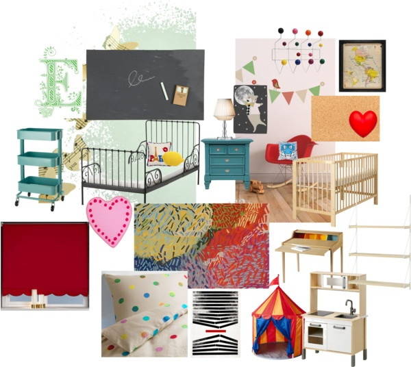 """ikea inspired toddler and baby room share"" by gumby on Polyvore"