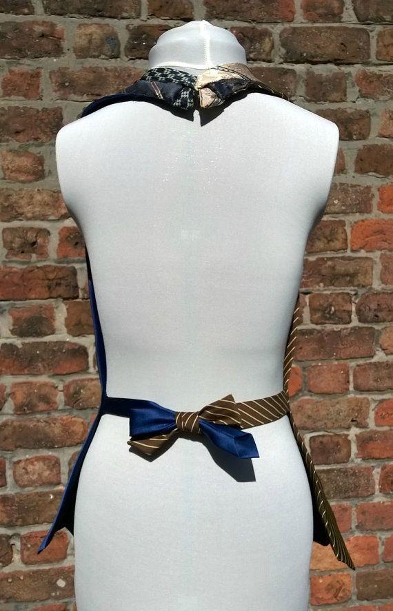 Ladies steampunk waistcoat upcycled neckties waistcoat by beWe