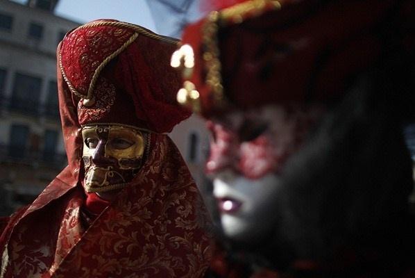 Venice carnival - formal masks