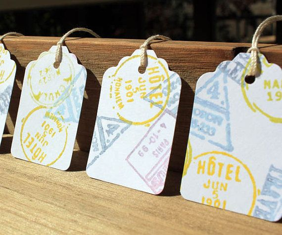 World Travel Theme Gift Tag Set by ConcepturePapery on Etsy, $4.95