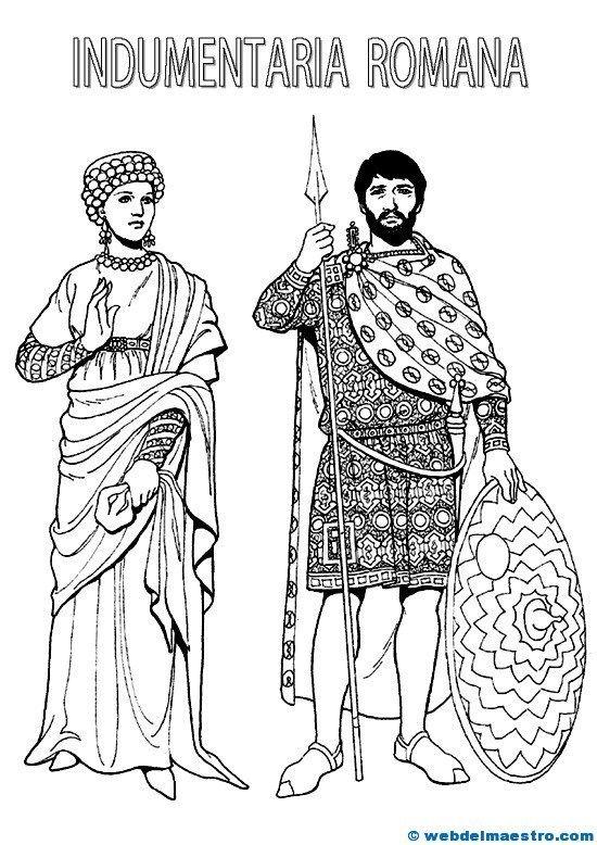 RomanosArte RomanaDibujos Indumentaria Historia Romano Y b6If7gyvY