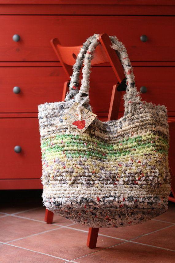Borsa artigianale di cotone fatta a mano / Handmade cotton bag #ambrarose #handmade #bag