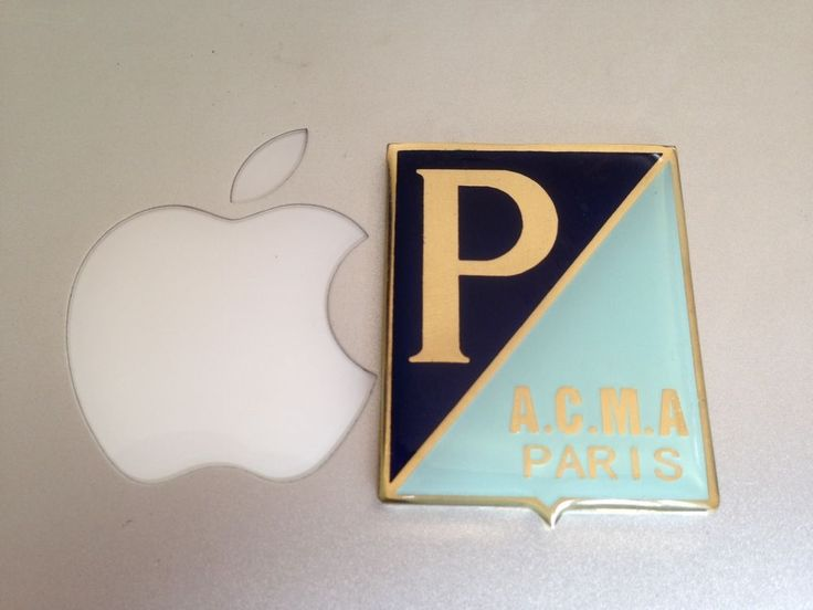 BADGE VESPA ACMA PARIS BRASS COATED RESIN