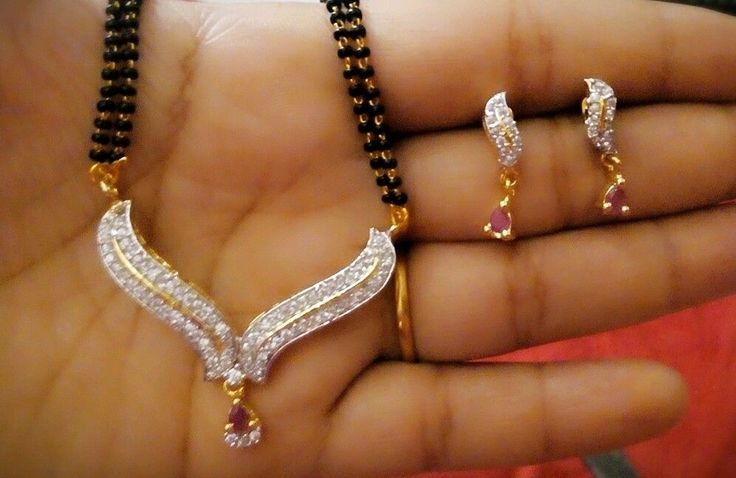 22k gold plated mangalsutra pendant buti with black beads double line chain