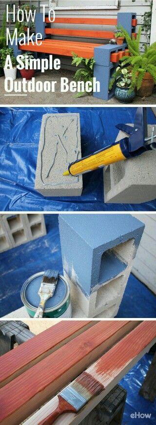 Cynder block bench