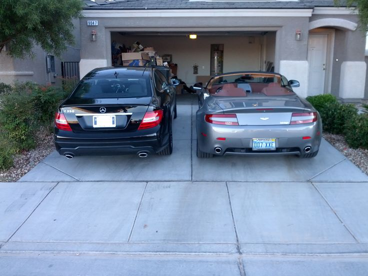 Right after buying the new 2012 Mercedes C350.  It sits right next to the Aston Martin Vantage.