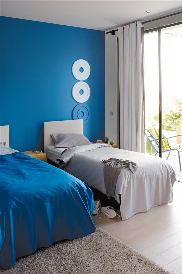 etat pur douceur de vivre chambre bleue zolpan. Black Bedroom Furniture Sets. Home Design Ideas