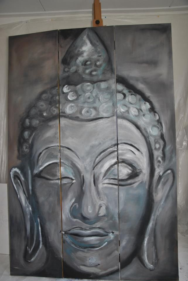 a budha folding screen