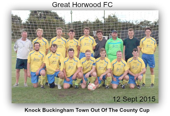 Great Horwood team before their famous victory over Buckingham Town