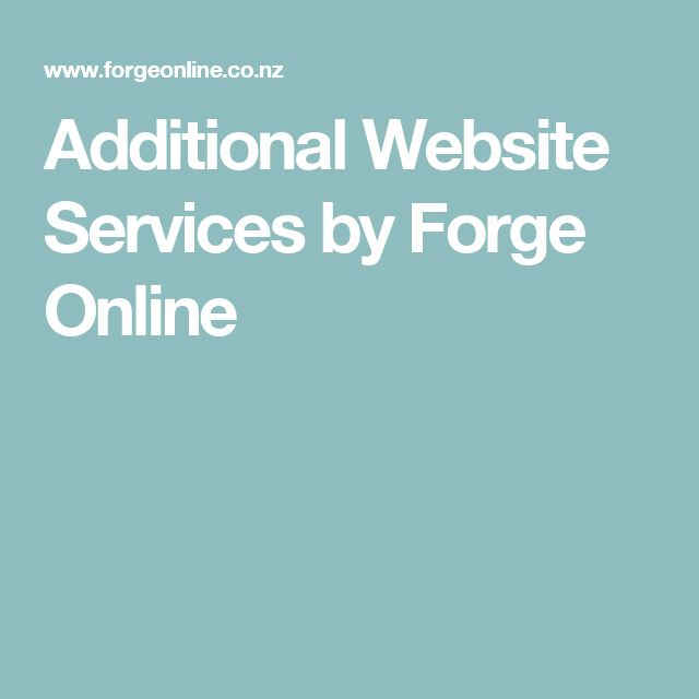 Additional Website Services by Forge Online