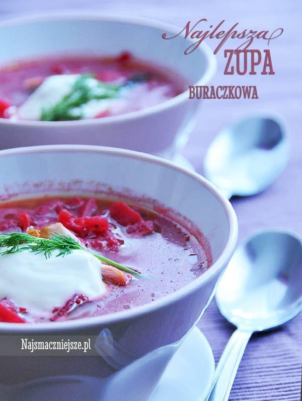 Zupa buraczkowa z mięsem, zupa buraczkowa, buraki, najsmaczniejsze.pl