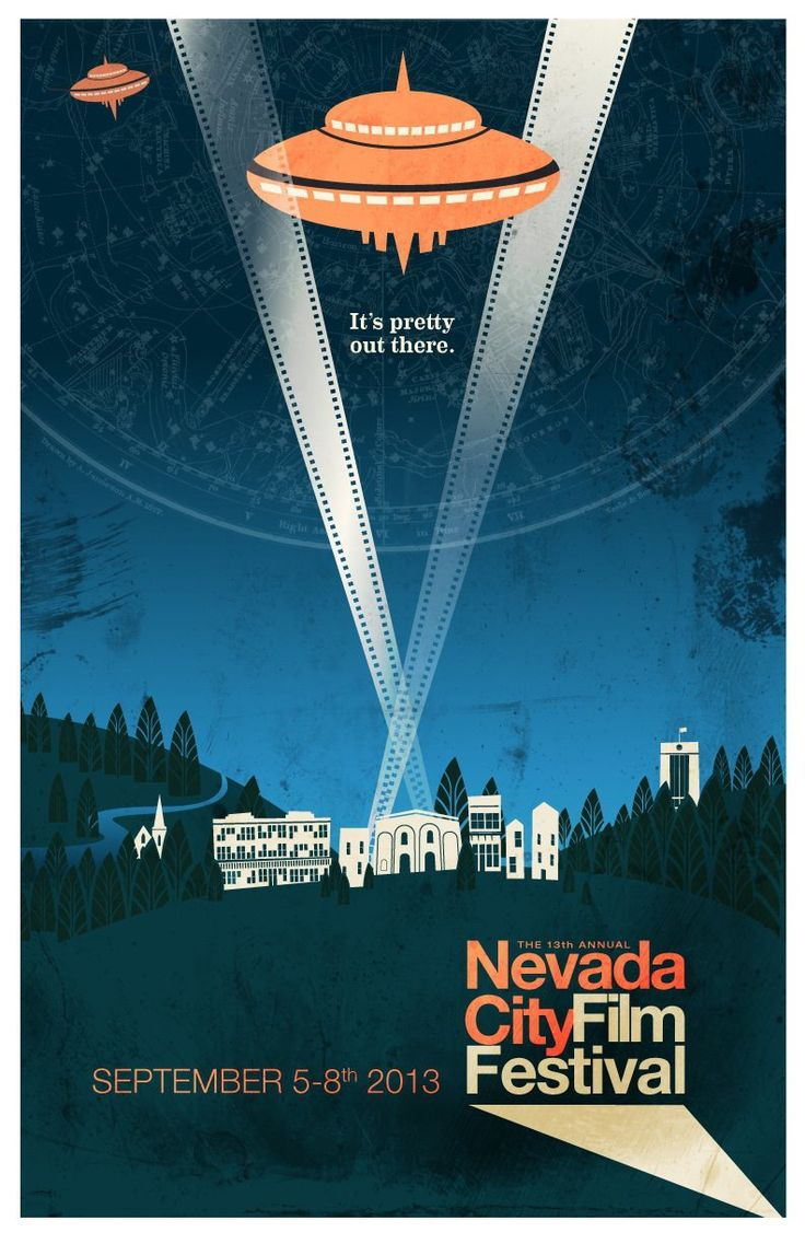 2013 Nevada City Film Festival Poster! Designed by Rich Good of The Indiana Experiment.