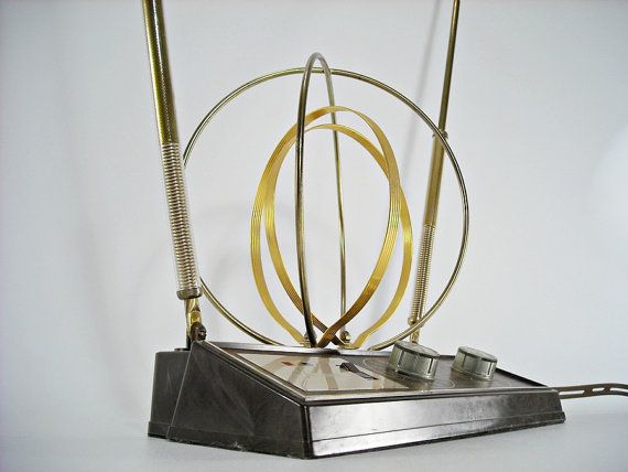Mid Century Television Antenna Rembrandt  Gold by silverbranchhome