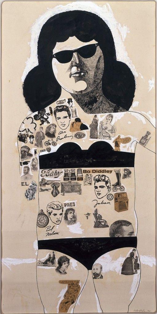 Getatoeëerd meisje (met Elvis) door Sir Peter Blake