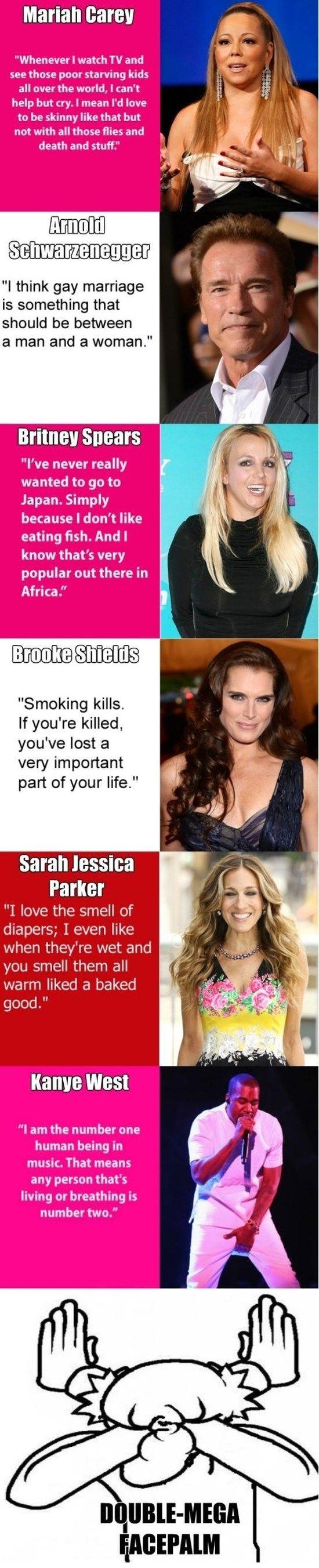 Dumb Celebrity Quotes http://ibeebz.com