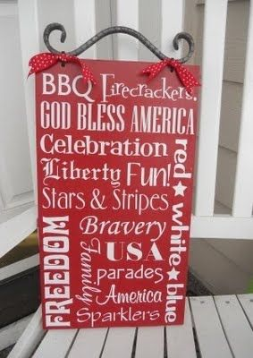 4th of julyCrafts Ideas, Subway Signs, Subway Art, June Crafts, Fourth Of July, Super Saturday Crafts, 4Th Of July, Pools Parties, Crafts Kits