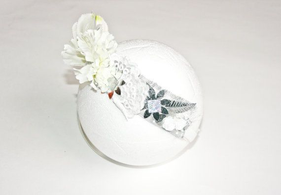 Baby & Toddler's Floral Crown White and by MollylovesBowieKIDS