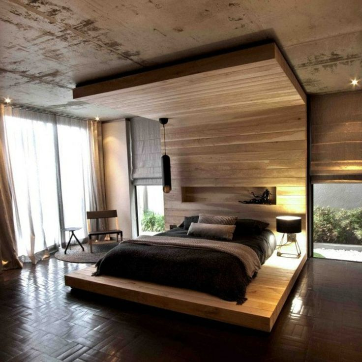 Schlafzimmerschrank modern holz  Die besten 25+ Raumteiler kopfteil Ideen auf Pinterest | Kopfteil ...