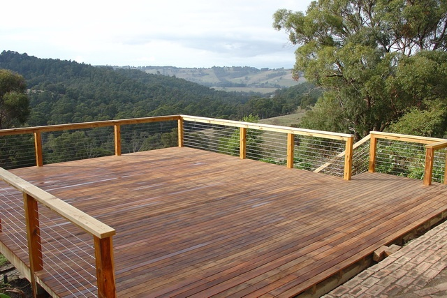 Outdoor Living  Alfresco  Deck  Balustrade  Stainless Steel Cable