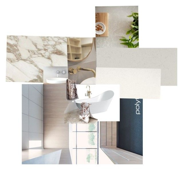 """Bathroom collage"" by kristineclarke on Polyvore featuring interior, interiors, interior design, home, home decor, interior decorating and bathroom"