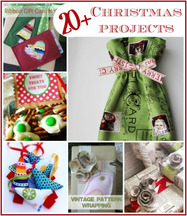 Christmas Fabric Craft Ideas Part - 26: Christmas Holiday Projects Round Up
