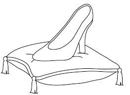 big glass slipper coloring coloring pages Cartoon Cinderella Slipper  Cinderella Slipper Coloring Page