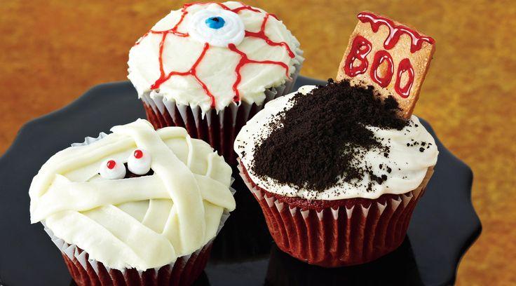 Red Velvet Halloween Cupcakes