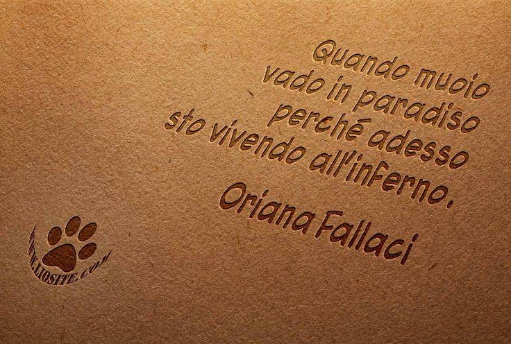 Era una delle sue frasi preferite nella sporca guerra del Vietnam: «Quando muoio vado in paradiso perché adesso sto vivendo all'inferno». Una Oriana Fallaci che non si smentiva mai.  #OrianaFallaci, #guerra, #inferno, #paradiso, #liosite, #citazioniItaliane, #frasibelle, #ItalianQuotes, #Sensodellavita, #perledisaggezza, #perledacondividere, #frasimotivazionali, #GraphTag, #ImmaginiParlanti, #citazionifotografiche, #graphicquotes, #graphquotes, #fotocitazioni, #graphquotes, #fotocitazioni,