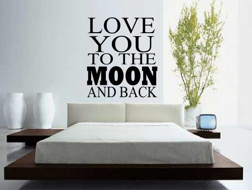 Love you to the moon and back wall decal tothemoonandback love bedroom
