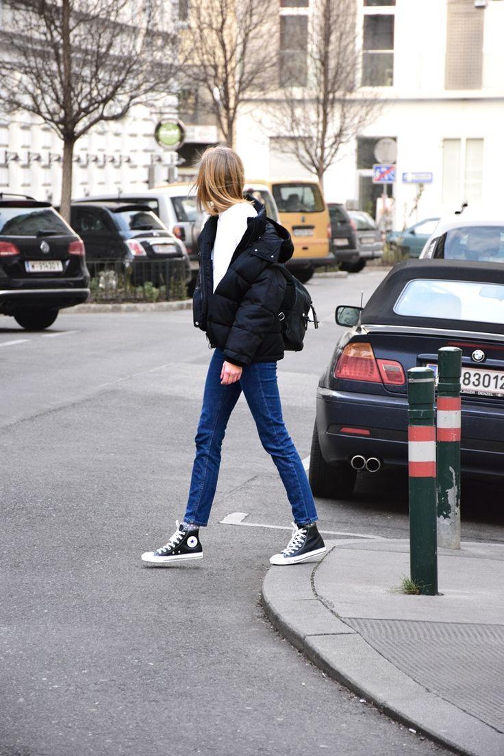 padded jacket, black oversized jacket, how to wear, minimal, katiquette