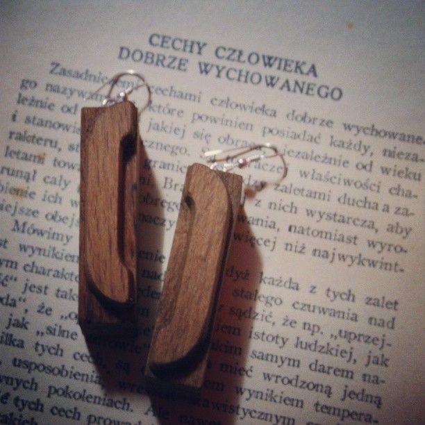 letterpress earrings / info@brzydko.com #letterpress #earrings