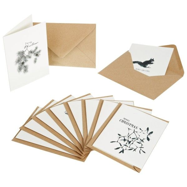 weihnachtsgru karten 10er set weihnachtsgru karten. Black Bedroom Furniture Sets. Home Design Ideas