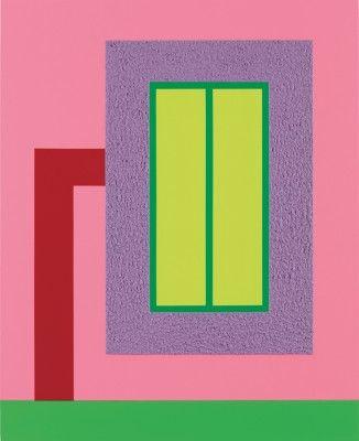 ピーター・ハレー、レイジング・ホープ私、2013、48のx 39 / 121.9 X 99.1センチメートルアクリル、日-GLOアクリル、キャンバス上のロールテックス。 ワディントンCustotギャラリー、ロンドンの礼儀