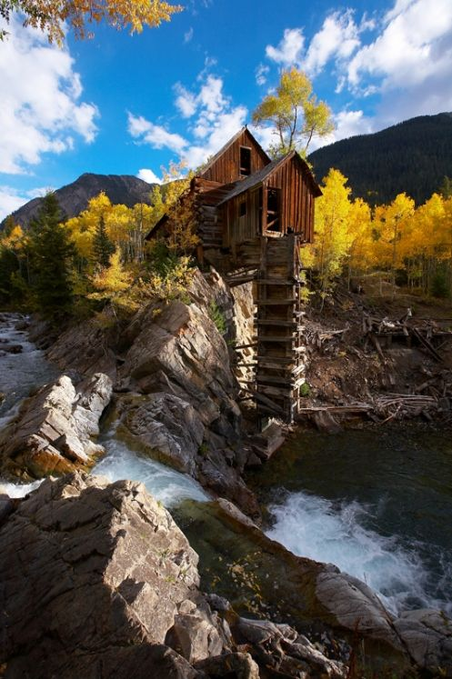 Crystal Mill Waterfall. Aspen, Colorado Just as Beautiful in person. i was able to go there with family and freinds on ATV's a few years back.