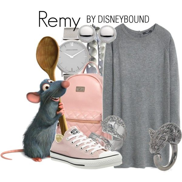 Remy by leslieakay on Polyvore featuring MANGO, Converse, Princess Carousel, Larsson & Jennings, Marc by Marc Jacobs, Bling Jewelry, Disney, disney, disneybound and disneycharacter