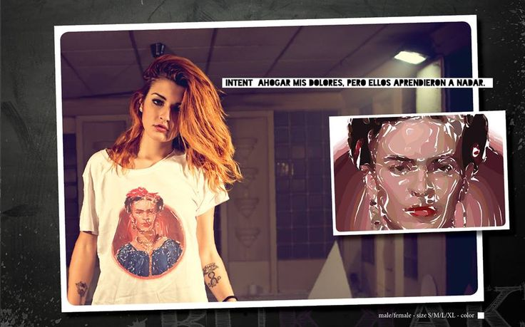 FRIDA MALE/FEMALE S-M-L-XL COLOR WHITE