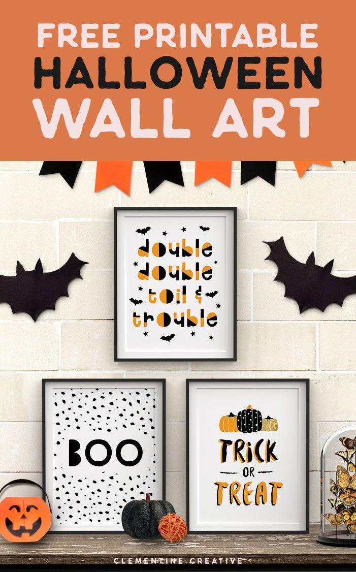 Free Printable Halloween Wall Art Modern Prints For Your Halloween Decor Halloween Party Printables Halloween Wall Art Halloween Printables Free