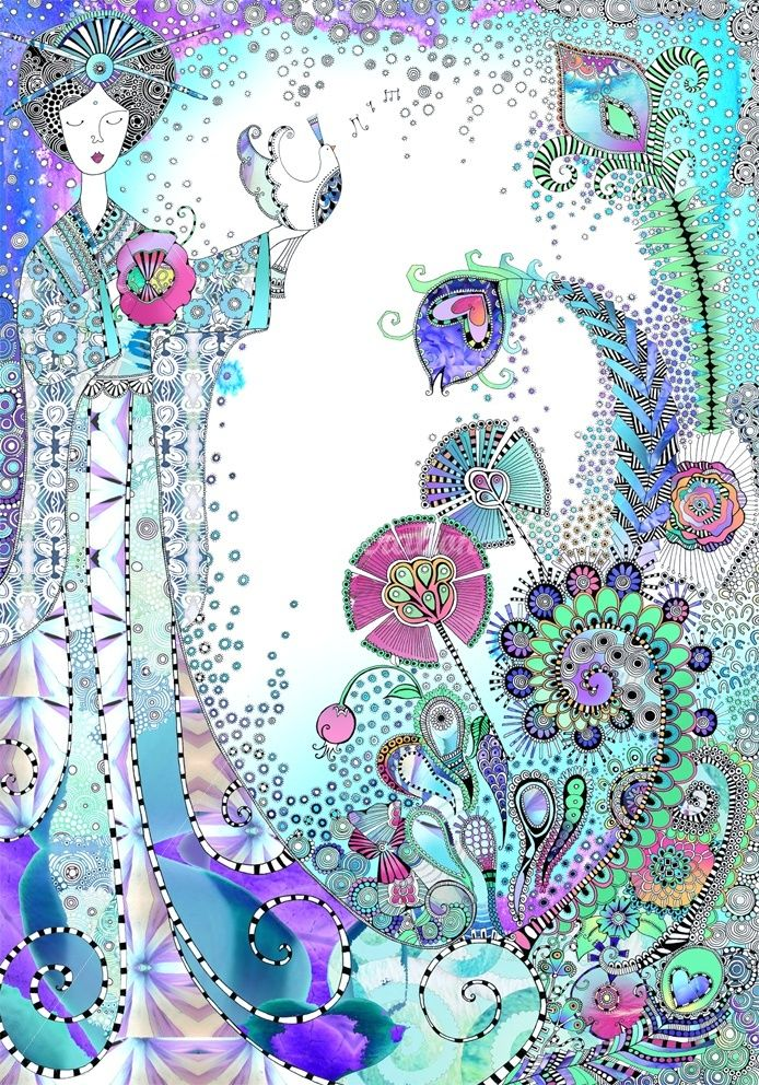 Hannah Davies,Illustrator in surface designe