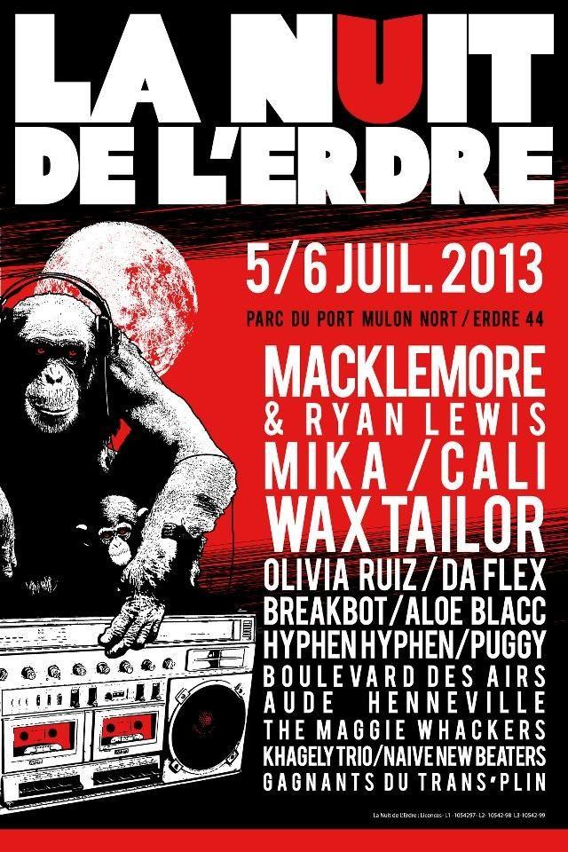 La nuit de l'Erdre 2013 à Nort sur Erdre. Du 5 au 6 juillet 2013 à Nort sur Erdre.