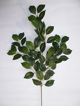 Frunze si crengi artificiale Crenguta cu frunze de Camelia 55 cm  verde