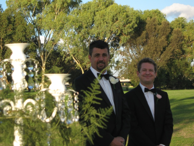 Jamie and his best man