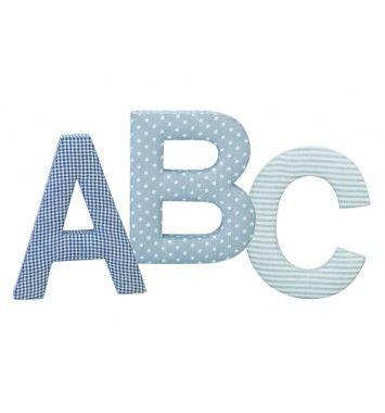 Kids Concept ABC Bokstaver Blå 3-pack